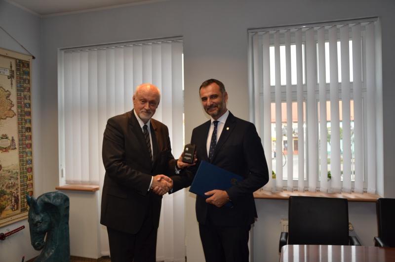 Wizyta wiceprzewodniczącego GZM w Bieruniu
