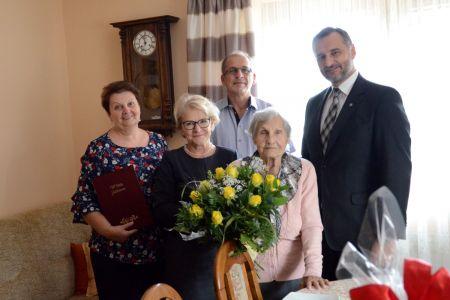 90. urodziny Stefanii Adamczyk i Joanny Winiarz