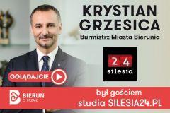 Burmistrz Krystian Grzesica był gościem SILESIA24.PL - Zobaczcie!