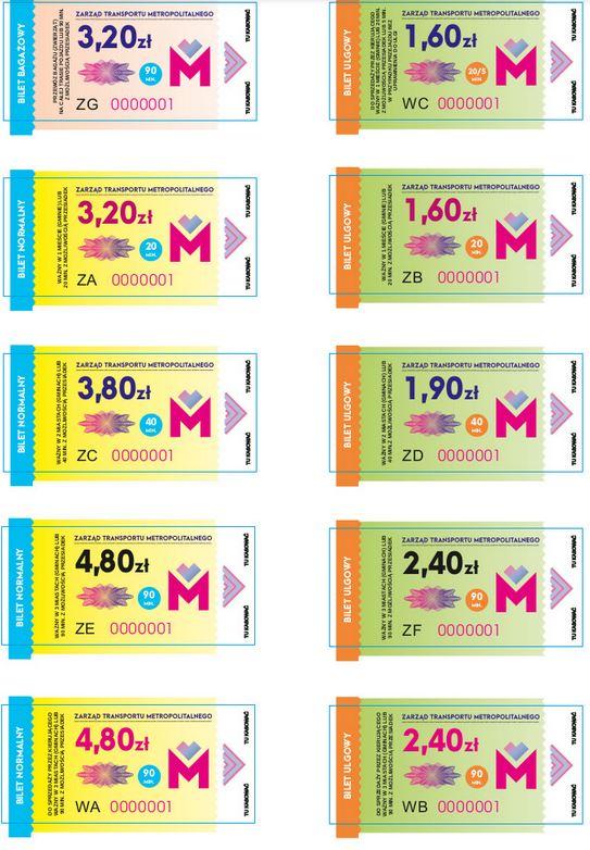 Wzory biletów