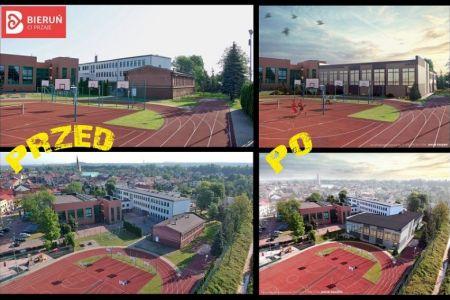 porównanie starej sali gimnastycznej do planowanej